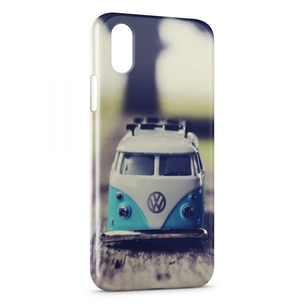 Coque iPhone XR Volkswagon Van Blue Vintage