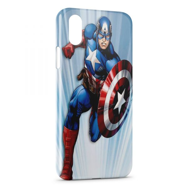 Coque iPhone XS Max Advenger Captain America USA