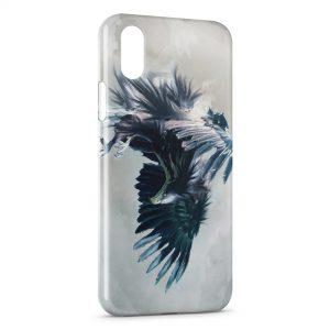 Coque iPhone XS Max Aigle bleu