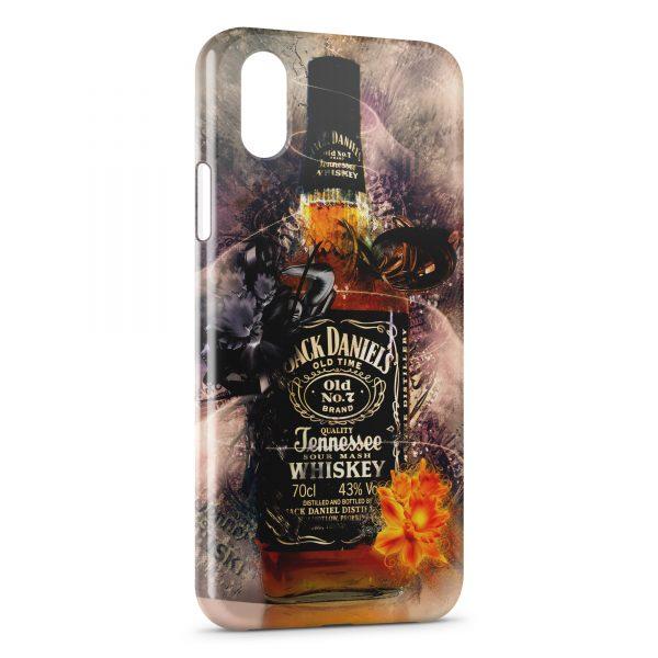 Coque iPhone XS Max Alcool Jack Daniel's Art