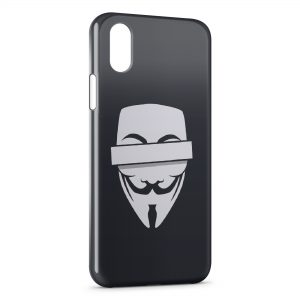 Coque iPhone XS Max Anonymous Logo