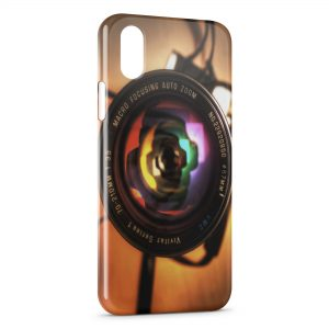 Coque iPhone XS Max Appareil Photo Design Style