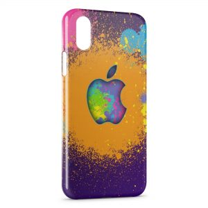Coque iPhone XS Max Apple Peinture Colors