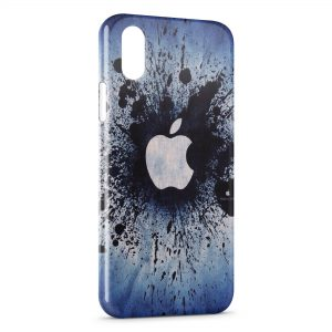 Coque iPhone XS Max Apple Splash Logo Vintage