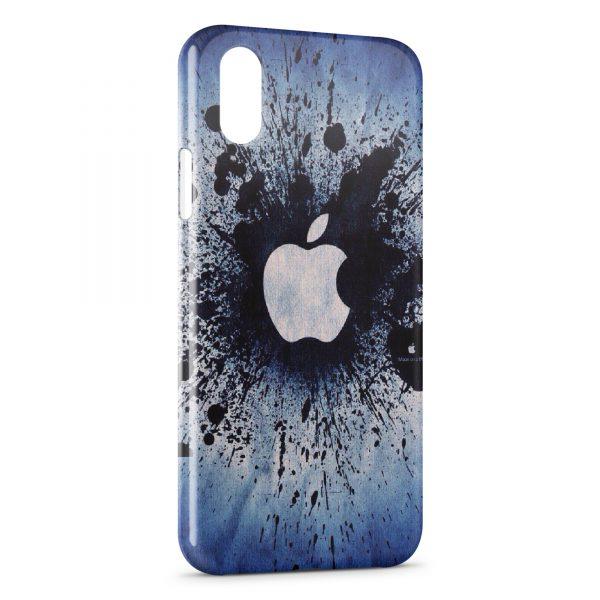 Coque iPhone XS Max Apple Splash Logo Vintage