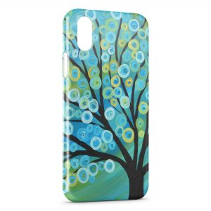 Coque iPhone XS Max Arbre Paint