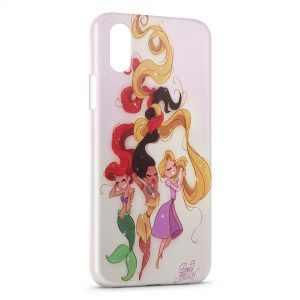 Coque iPhone XS Max Ariel Pocahontas Raiponce Princess