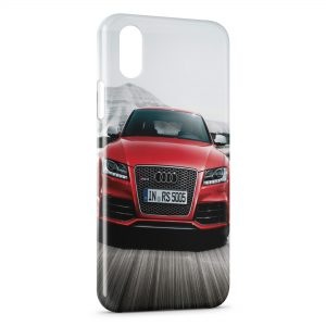 Coque iPhone XS Max Audi Rouge Luxe