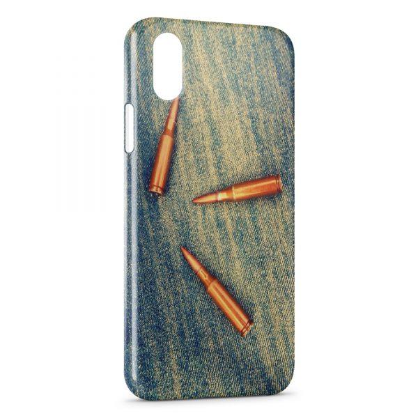 Coque iPhone XS Max Balles Fusil