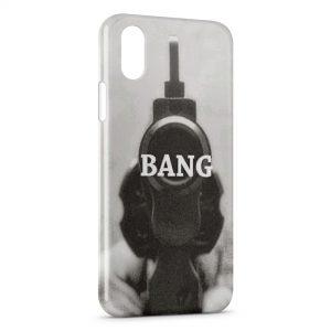 Coque iPhone XS Max Bang Pistolet Vintage