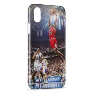 Coque iPhone XS Max Basketball Dunk Bulls