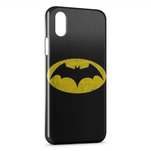 Coque iPhone XS Max Batman Logo Jaune