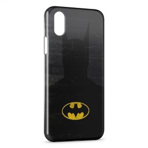 Coque iPhone XS Max Batman Ombre et Logo