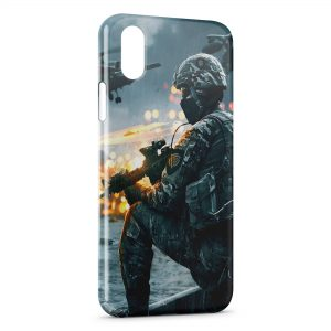 Coque iPhone XS Max BattleField Wars
