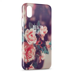 Coque iPhone XS Max Begin Again Roses