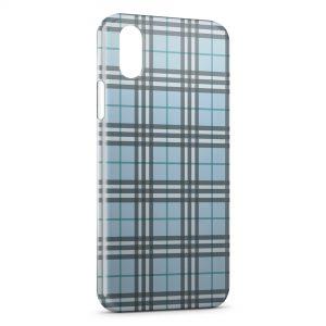 Coque iPhone XS Max Bleue Texture