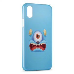 Coque iPhone XS Max Blue Monster