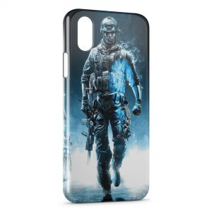 Coque iPhone XS Max Blue Soldier