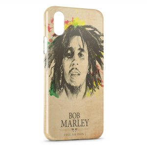 Coque iPhone XS Max Bob Marley Feel No Pain