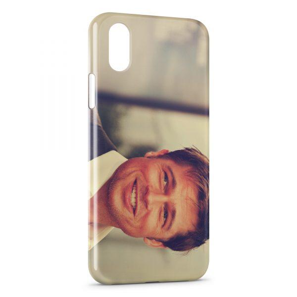 Coque iPhone XS Max Brad Pitt 3
