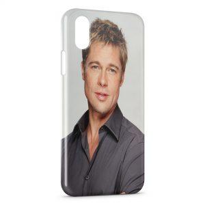 Coque iPhone XS Max Brad Pitt
