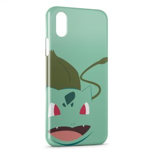 Coque iPhone XS Max Bulbizarre Pokemon Graphic Design Style