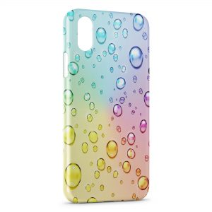 Coque iPhone XS Max Bulles Multicolor