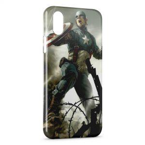 Coque iPhone XS Max Captain America 2