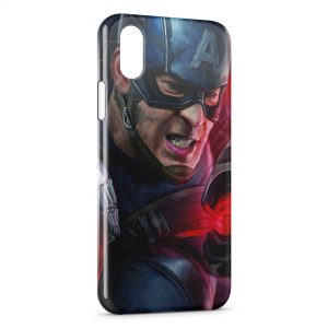Coque iPhone XS Max Captain America Art Graphic 4