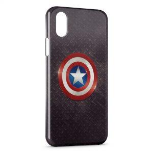 Coque iPhone XS Max Captain America Bouclier 2