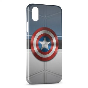 Coque iPhone XS Max Captain America Bouclier Avenger