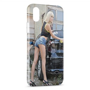 Coque iPhone XS Max Car Wash Girl 2
