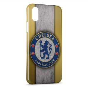 Coque iPhone XS Max Chelsea FC Yellow & Blue