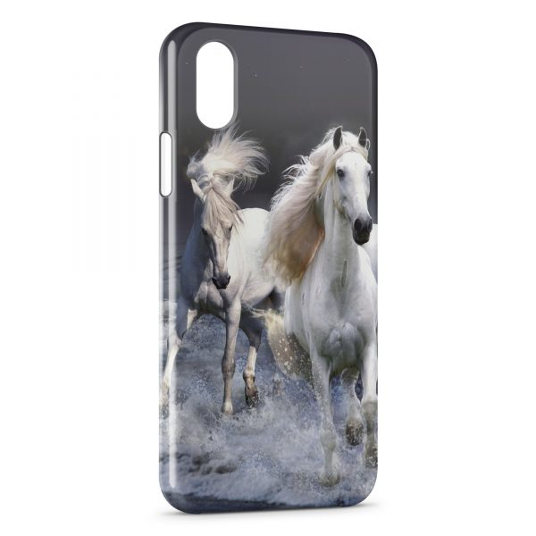 Coque iPhone XS Max Chevaux Blancs Water