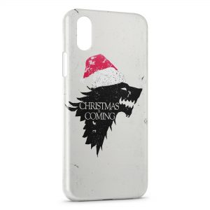 Coque iPhone XS Max Christmas is Coming Game of Thrones