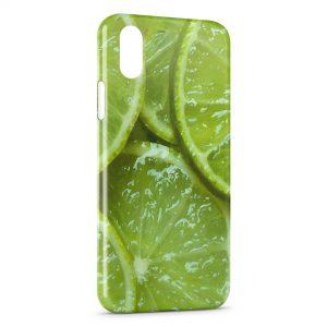 Coque iPhone XS Max Citrons Vert