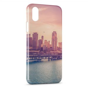 Coque iPhone XS Max City Vintage Art