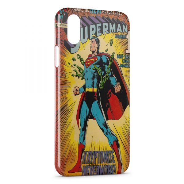 Coque iPhone XS Max Comics Superman