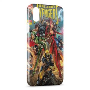 Coque iPhone XS Max Comics The Advengers Wolverine
