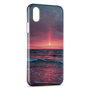 Coque iPhone XS Max Coucher de Soleil Rose