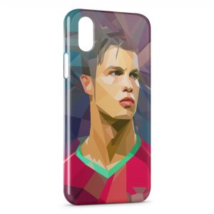 Coque iPhone XS Max Cristiano Ronaldo Art Design