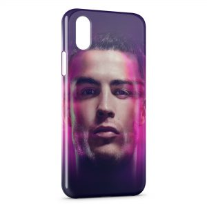 Coque iPhone XS Max Cristiano Ronaldo Football 2