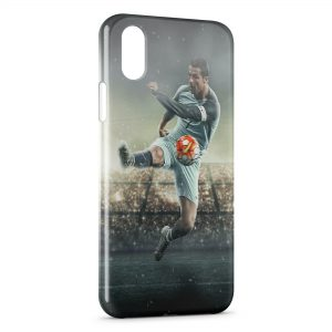 Coque iPhone XS Max Cristiano Ronaldo Football 27