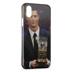 Coque iPhone XS Max Cristiano Ronaldo Football 28