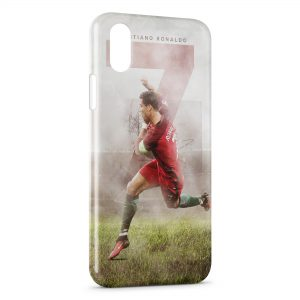 Coque iPhone XS Max Cristiano Ronaldo Football 29