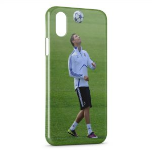 Coque iPhone XS Max Cristiano Ronaldo Football 30