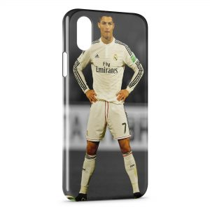 Coque iPhone XS Max Cristiano Ronaldo Football 31