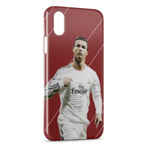 Coque iPhone XS Max Cristiano Ronaldo Football 33