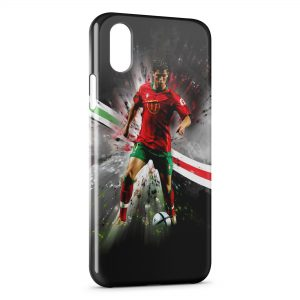 Coque iPhone XS Max Cristiano Ronaldo Football 34