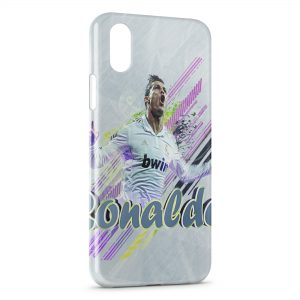 Coque iPhone XS Max Cristiano Ronaldo Football 35